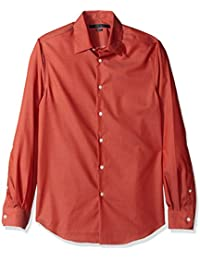 Perry Ellis Men's Standard Travel Luxe Solid Non-Iron...