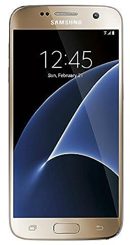 Samsung Galaxy S7 SM-G930F 32GB Unlocked GSM 4G/LTE Smartphone - Gold (International version, No (Nextel Phone Touchscreen)