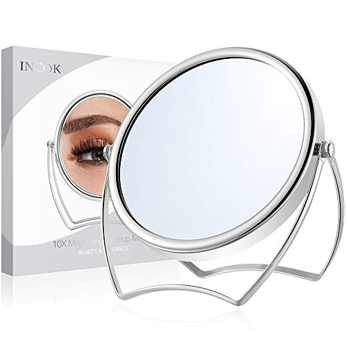 10X 1X Double Sided Magnifying Makeup Mirror - 5