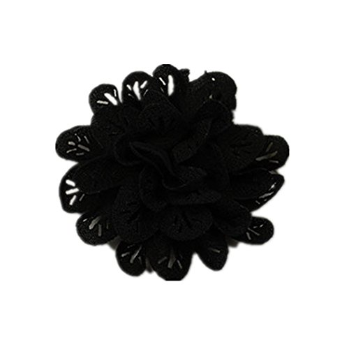 Douqu 2 Pcs 3.15 Inch Fabric Flowers Clips For Shoes Clothing DIY Garment Accessories Assorted Color ()