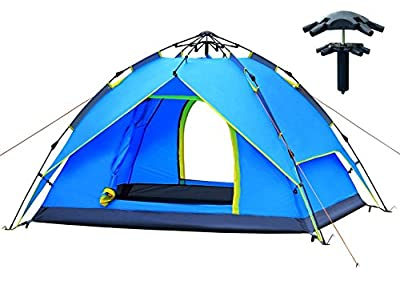 AUGYMER Pop Up Camping Tent, 2-3 Person Tent for Camping Automatic Portable Lightweight Backpacking Tents with Carry Bag for Camping Hiking