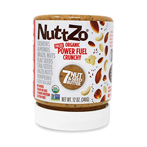NuttZo Organic Crunchy Power Fuel Paleo Seven Nut & Seed Butter, 12 Ounce