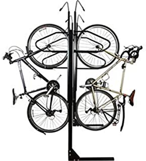 """product image for 6-Bike Vertical Bike Rack, Double Sided, Locking, 72""""W x 90""""D"""