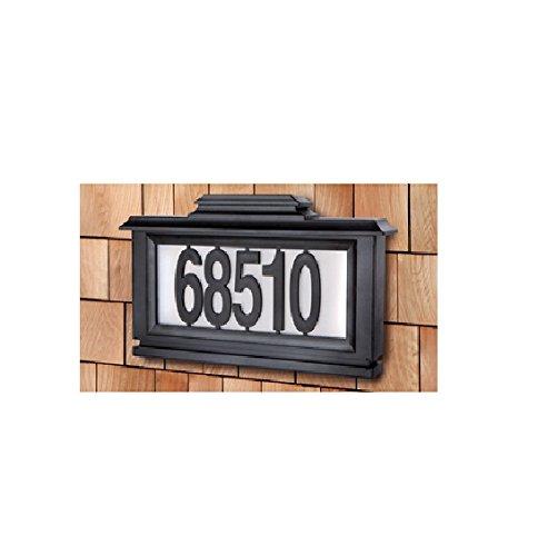 [해외]까만 시리즈 태양 강화한 점화 한 주소 패/Black Series Solar-Powered Lighted Address Plaque