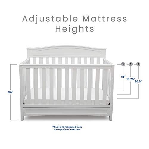 41MeWei2S1L - Delta Children Emery 4-in-1 Convertible Baby Crib, White
