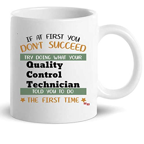 Quality Control Technician Mug Coffee Cup - Funny Gift for Men Women - 11 Oz Mugs Cups T-Shirt from WingToday