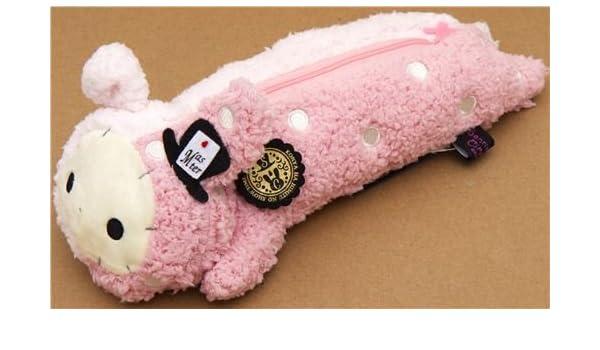 estuche de peluche Sentimental Circus con conejo rosa: Amazon.es: Juguetes y juegos