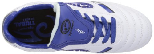 Optimum Tribal - Bota de Rugby Junior Blanco/Azul (White/Blue)