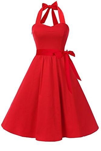 Red 50s Dress - Topdress Women's Vintage Polka Audrey Dress