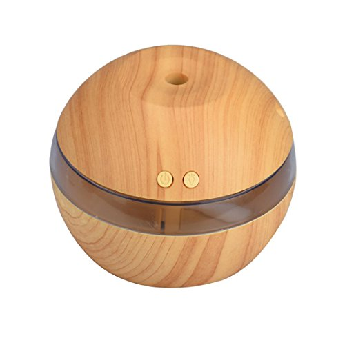 Air Aroma Essential Oil Diffuser, Bolayu LED Ultrasonic Aromatherapy Humidifier (Khaki)