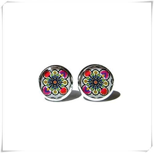 little love Mexican Art Stud Earrings, Mexican Folk Art Earrings, Mexican Jewelry,Mexican Earrings,Mexican Ornamental, Post Earrings