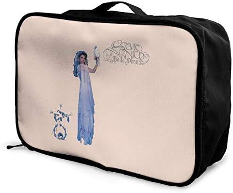 アレンジケース スティービー ニックス 旅行用トロリーバッグ 旅行用サブバッグ 軽量 ポータブル荷物バッグ 衣類収納ケース キャリーオンバッグ 旅行圧縮バッグ キャリーケース 固定 出張パッキング 大容量 トラベルバッグ ボストンバッグ