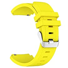 Gear S3 Frontier / Classic Watch Band, LNKOO Soft Silicone Replacement Sport Strap for Samsung Gear S3 Frontier / S3 Classic / Moto 360 2nd Gen 48mm Smart Watch, NO TOOLS NEEDED, Yellow