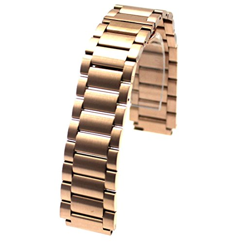 MOTONG 18mm Stainless Steel Watch Band For HUAWEI Watch Come With Quick Remove (Rose Golden)
