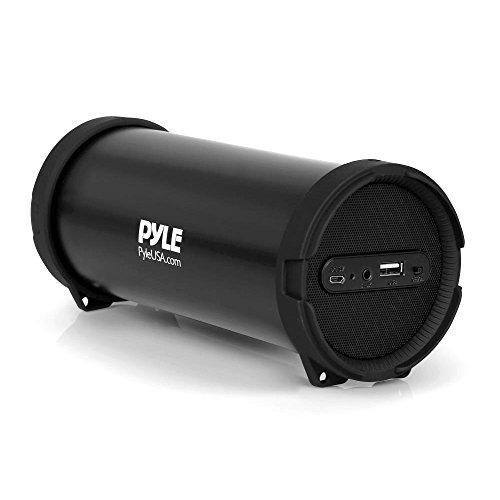 Pyle Surround Portable Boombox Best Quality Wireless Home Speaker Stereo System, Built-In Rechargeable Battery, MP3/USB/FM Radio with Auto-Tuning, Aux Input Jack For external Audio. (Tube Portable Speaker)