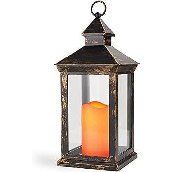 Amazon.com: Decorative Candle Lanterns, Set of 3 Indoor and ...