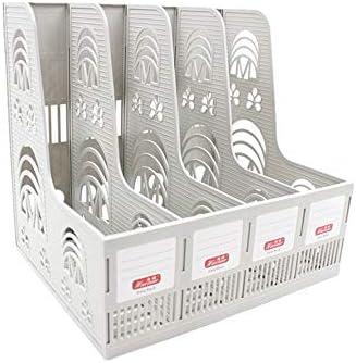 Stehsammler Vier Grid File Table Desktop Storage Stationery Vier Sätze von Dateihaltern Geschnitzte Datei Box Office Tabletop Organizer