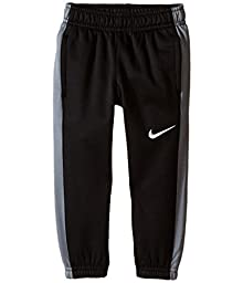 Nike Little Boys Grey and Black Therma-fit Pants (4T Toddler, Blck/C.Grey)