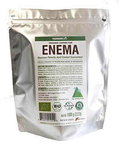 Organic Enema Coffee, Original Roast Profile From Germany, Best Recipe To Provide Maximum Amount of Antioxidants. High-altitude Grown Coffee. 2.2 lb bag, Approx 56 Enemas. (2.2 lb) ()