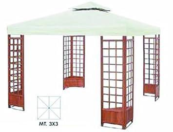 Bevorzugt Holz-Pavillon 3x3 mit 4 Pflanzer: Amazon.de: Elektronik ZF62