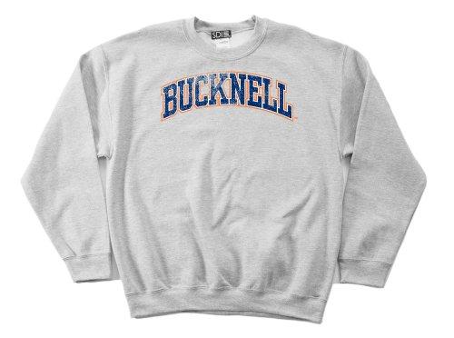 NCAA Bucknell Bison 50/50 Blended 8-Ounce Vintage Arch Crewneck Sweatshirt, Large, Sport Grey