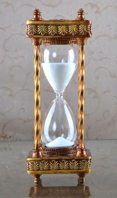 【ノーブランド品】 ヨーロピアン アンティーク風 クラシカルな ブロンズ枠 砂時計 白い 砂 30分計 B00T70Z95K