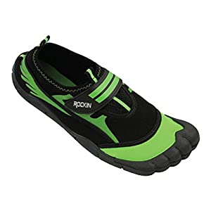 Rockin Footwear Mens Aqua Foot Water Shoes (10, Neon Green)