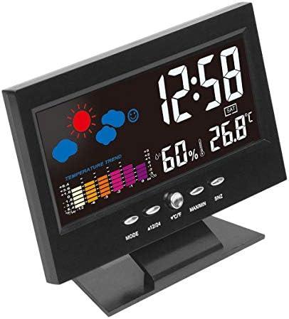 Heaviesk Elektronische Digital LCD Temperatur Luftfeuchtigkeit Monitor Uhr Thermometer Hygrometer Elektronische Indoor Home Wettervorhersage Uhr