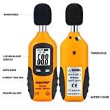RISEPRO Decibel Meter, Digital Sound Level Meter 30 – 130 dB Audio Noise Measure Device Backlight MAX/MIN, Data Hold Auto Power Off Dual Ranges HT-80A