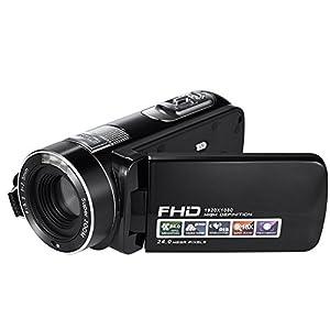 SEREE HDV-M06 FHD 1080p Video Camcorder 24MP 18X Digital Zoom Self Timer Beauty Face Camera HDMI Output (HDV-M06)