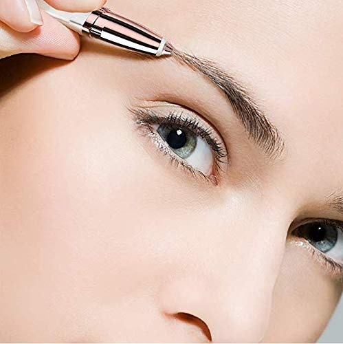 Kinbird Flawlessly Brows Hair Remover Eyebrow Trimmer, GUHEE Best Painless Hair Remover for Women, Flawlessly Touch Finishing(White)