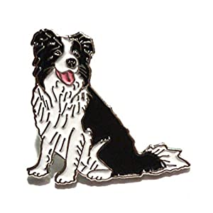 Border Collie Enamel Metal Pin Badge 1
