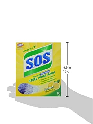 S.O.S. Steel Wool Soap Pads, Lemon Fresh, 10 Count
