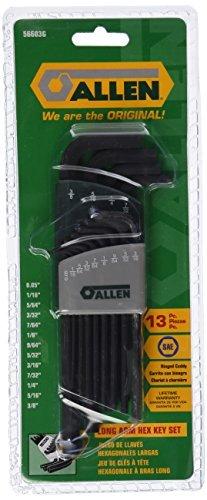 Allen 56603G 13-Key SAE Long Arm Hex Key Set [並行輸入品] B078XLDQHF