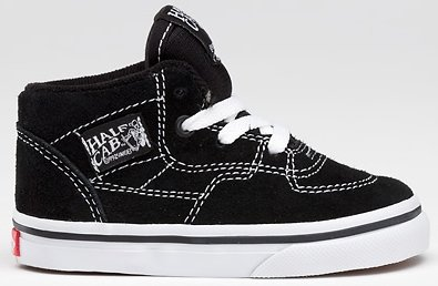 d93b7df7339b5c Image Unavailable. Image not available for. Colour  Vans Toddler Half Cab  Black True White Skate Shoes ...