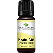 Brain Aid Synergy (for mental focus and clarity). Essential Oil Blend. 10 ml (1/3 oz). 100% Pure, Undiluted, Therapeutic Grade. (Blend of: Bergamot, Basil, Lemon and Grapefruit)