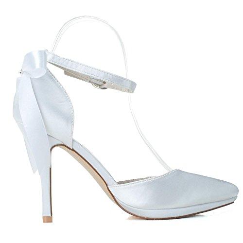 Frauen Hochzeitsschuhe Satin / High Heels / Frühling Sommer Herbst Spitze Hochzeit & 0255-28 Abend White
