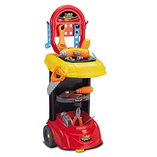 Gili Tool Bench Toy Workbench Trolley Set Workshop Construction Kit with Electronic Drill for Boys