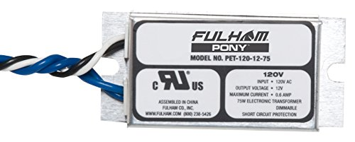 Fulham PET-120-12-75 Low Voltage Transformer