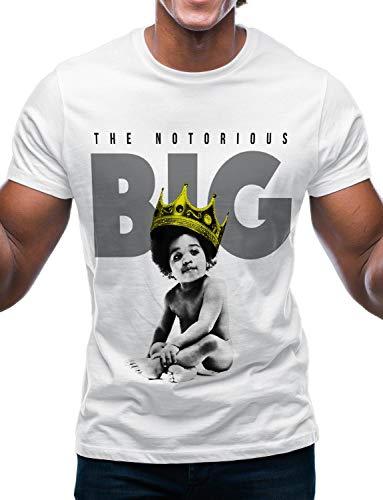 (Swag Point Hip Hop T-Shirt - Funny Vintage Street wear Hipster Parody (Medium, Baby BIGGIE3-WHT))