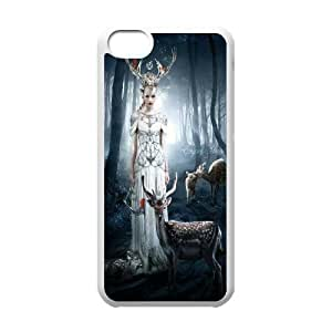 [QiongMai Phone Case] For Iphone 5c -Animal Deer-IKAI0448042