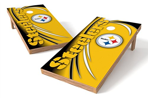 PROLINE NFL Pittsburgh Steelers 2'x4' Cornhole Board Set - Spiral (Pittsburgh Steelers Spiral)
