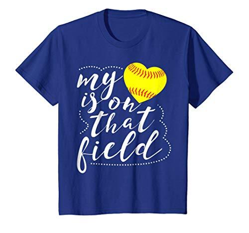 My Heart is on that Field Softball Shirt Funny Softball Mom