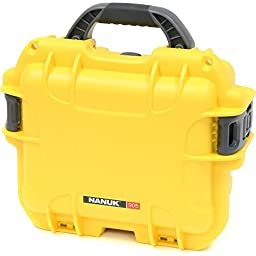 Nanuk 905-0004 905 Waterproof Hard Case, Empty, Yellow