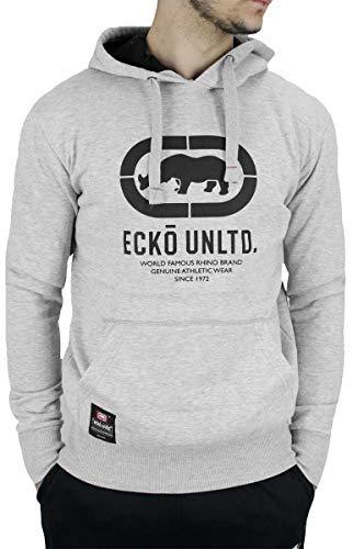Ecko Hombre Manga Larga Diseñador Sudadera con Capucha sin Cremallera, Negro, Gris Marengo, Gris: Amazon.es: Ropa y accesorios