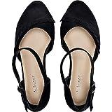 Women's Wide Width Flat Sandals - Ankle Strap Single Band Buckle Cozy Summer Ballet Flat.