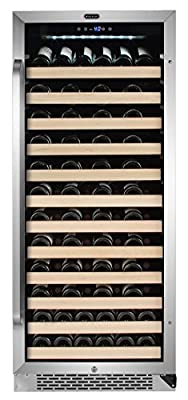 Whynter BWR-1002SD 100 Bottle Built-in Compressor Wine Refrigerator with Display Rack and LED display, Stainless-Steel