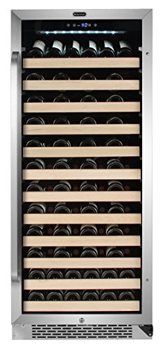 Whynter Stainless Steel BWR-1002SD 100 Bottle Built-in Compressor Wine Refrigerator Rack and LED display, One Size