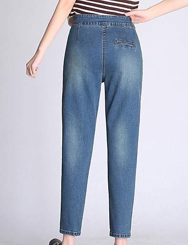 Pantalon YFLTZ Basic Blue Femme Jeans pour Couleur Unie Light Sq7Pq1dxw