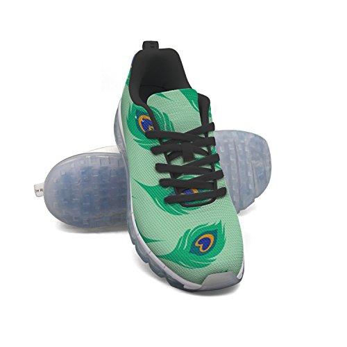 Faaerd Modello Coda Verde Pavone Mens Moda Leggero Cuscino Daria Scarpe Da Ginnastica Sneakers Scarpe Da Ginnastica